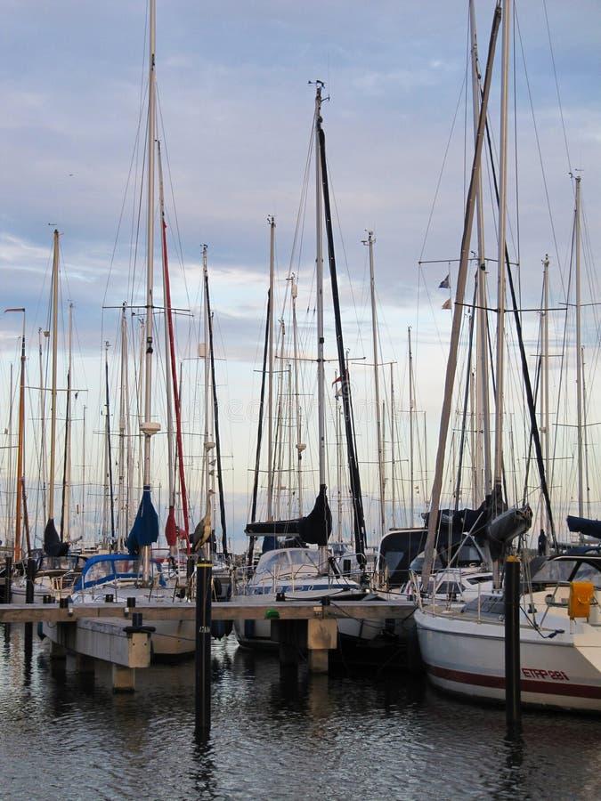Łodzie w północnym morzu fotografia stock
