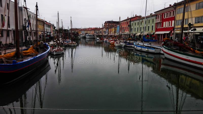 Łodzie w Wenecja zdjęcie stock