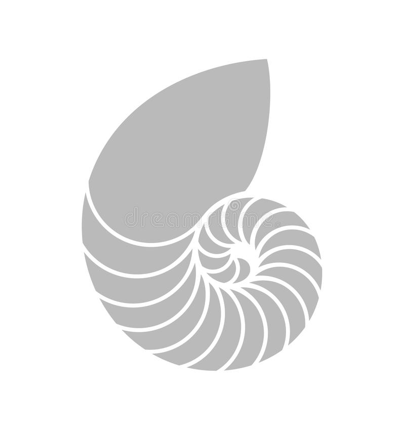 Łodzik Shell royalty ilustracja
