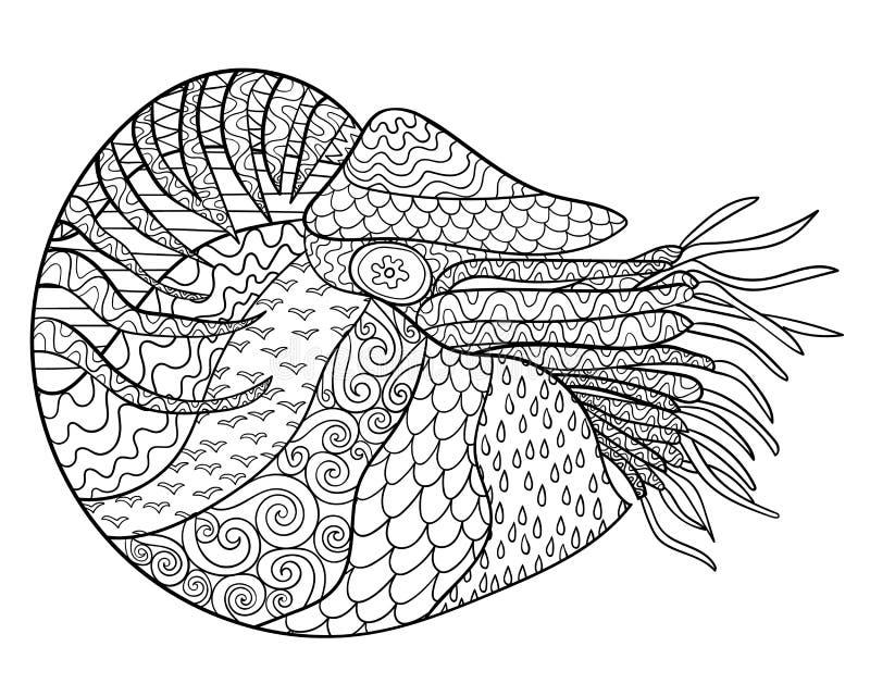 Łodzik z wysokimi szczegółami ilustracji