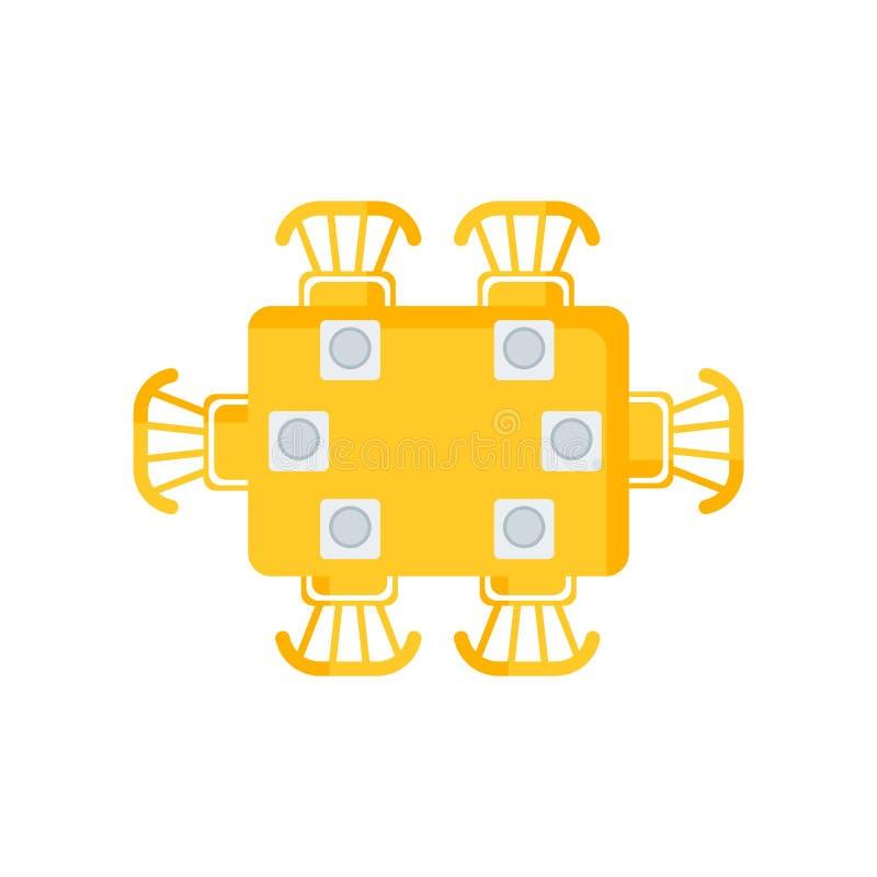 Łomotający stołowego ikona wektoru znaka i symbol odizolowywających na białym backg ilustracja wektor