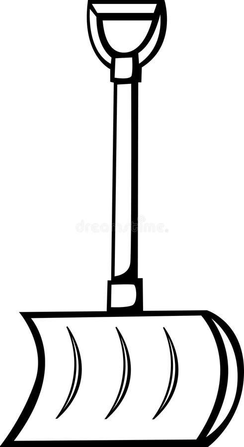 łopata śniegu wektora ilustracji