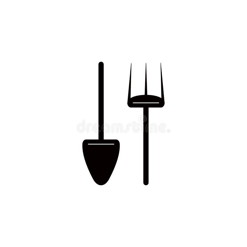 Łopaty i pitchfork ikona Element gospodarstwo rolne dla mobilnych pojęcia i sieci apps Ikona dla strona internetowa projekta i ro ilustracja wektor
