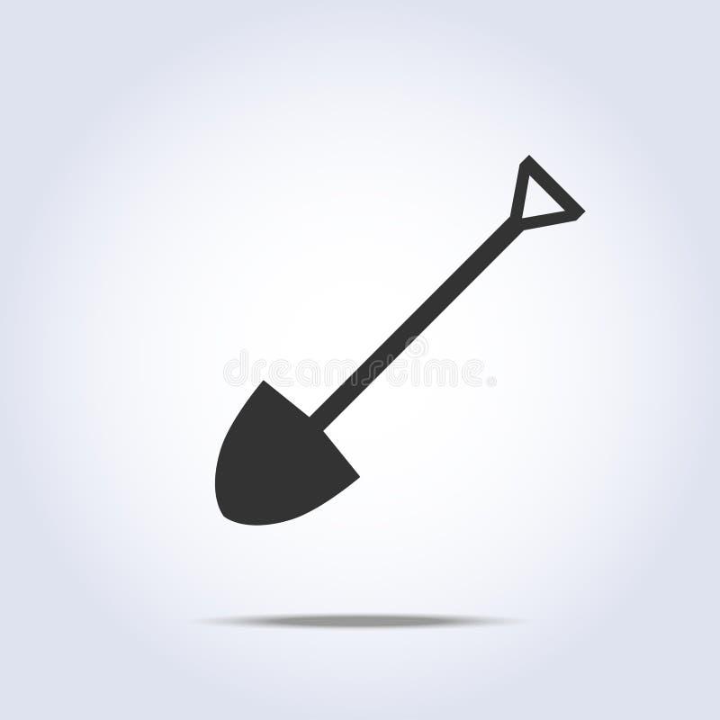 Łopaty ikona ilustracja wektor