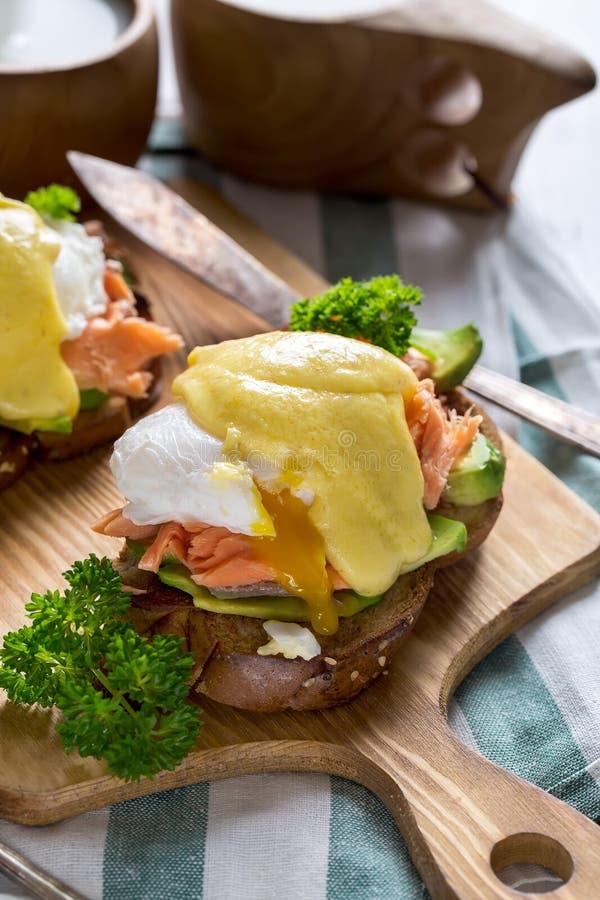 łososiowi Benedict jajka zdjęcie royalty free