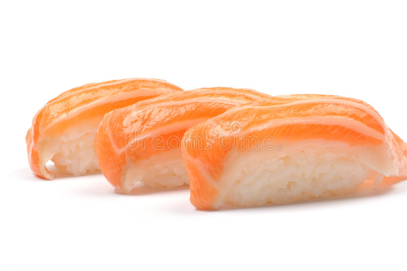 łososiowi sushis obrazy royalty free