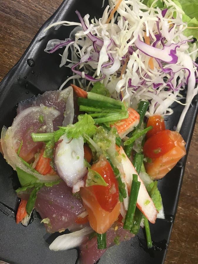 Łososiowy Japan jedzenie zdjęcia royalty free