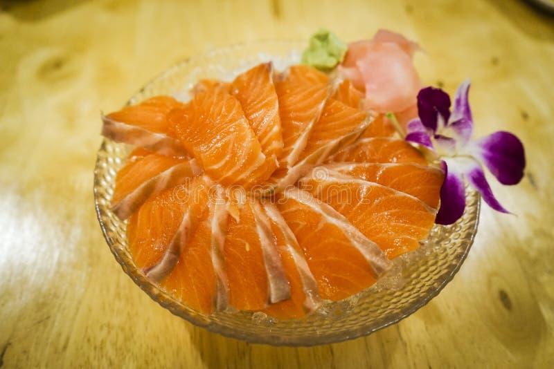 Łososiowy Sashimi obrazy royalty free