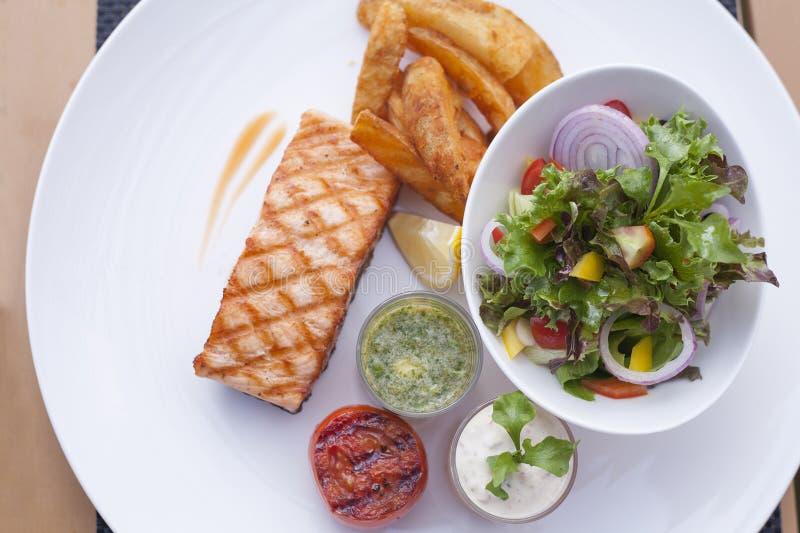 Łososiowy stek zdjęcia stock