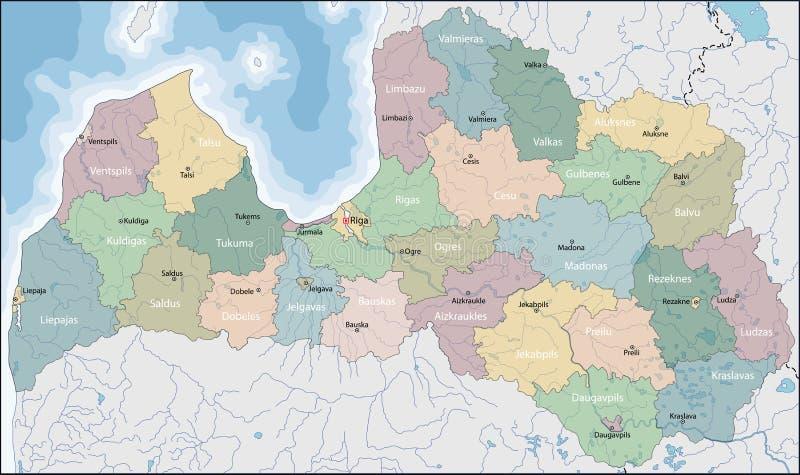 łotwa mapa ilustracji