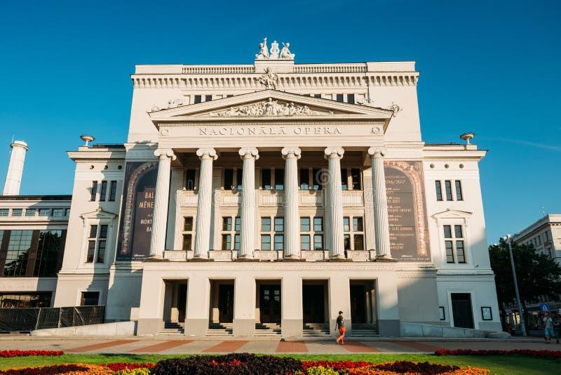 łotwa Riga Budynek Latvian Krajowa opera E zdjęcia stock