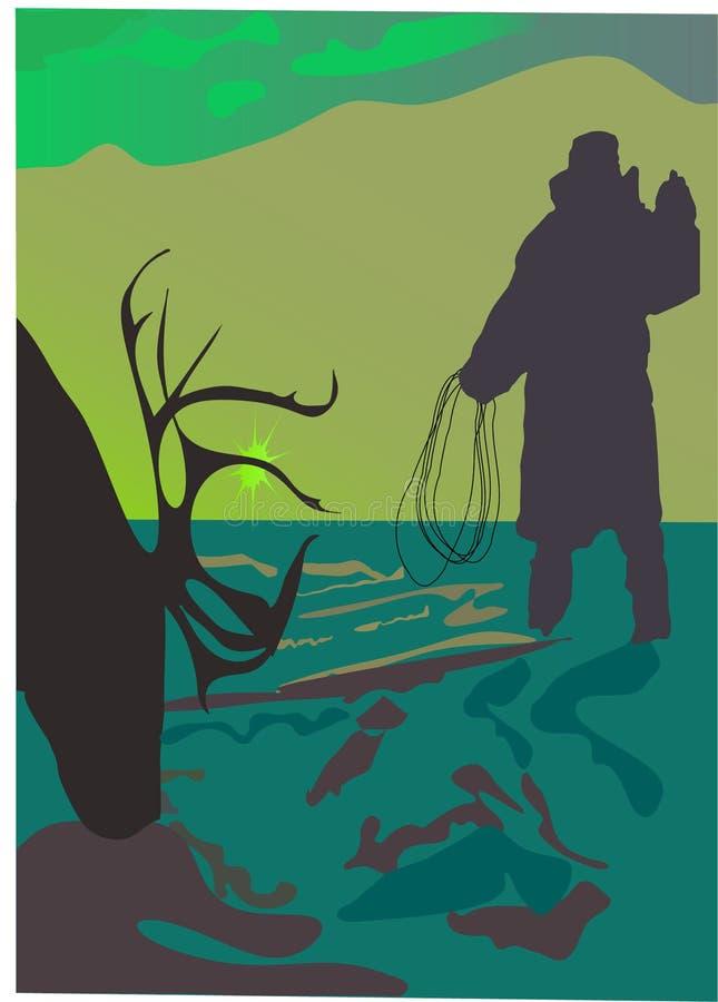 łowca jeleni ilustracja wektor