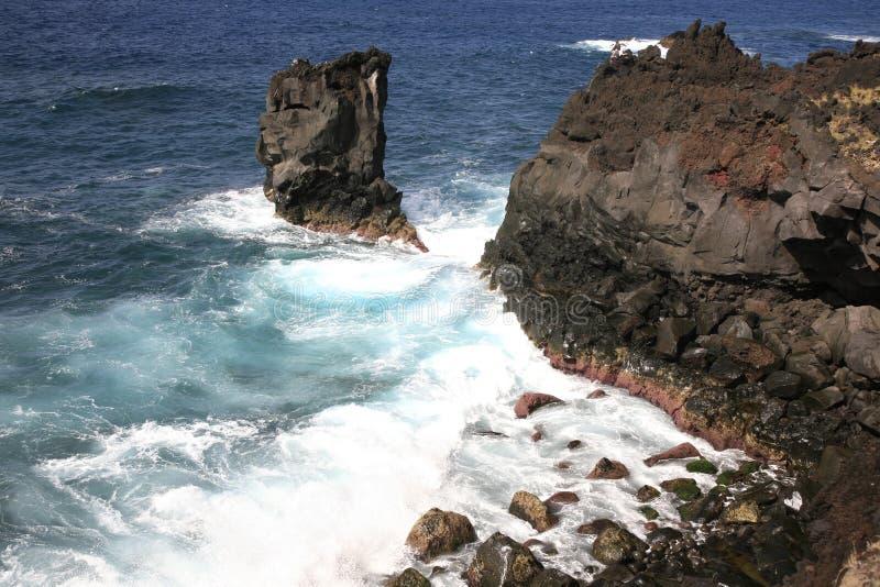Łowić kipiel w Azores fotografia stock