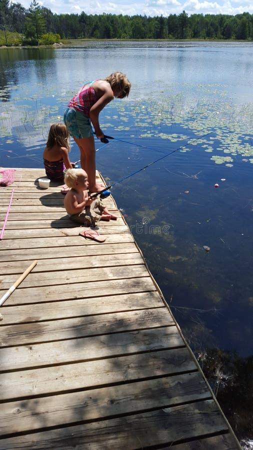 Łowić przy chałupą zdjęcia royalty free