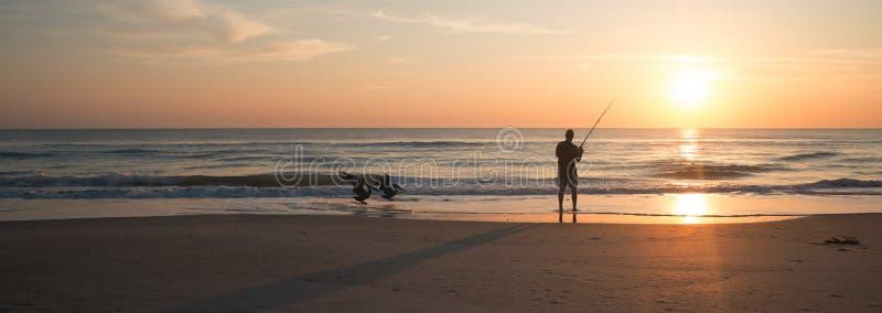 Łowić w Melbourne plaży obrazy royalty free