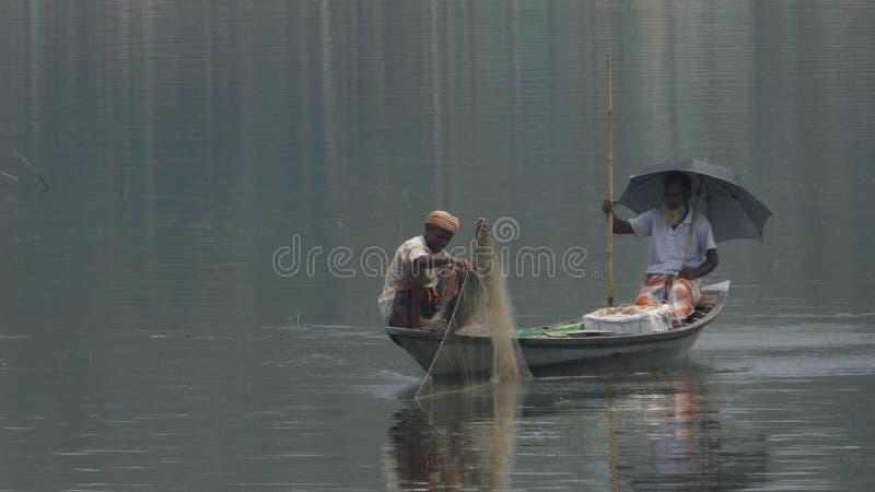 Łowić w rzece zdjęcie stock