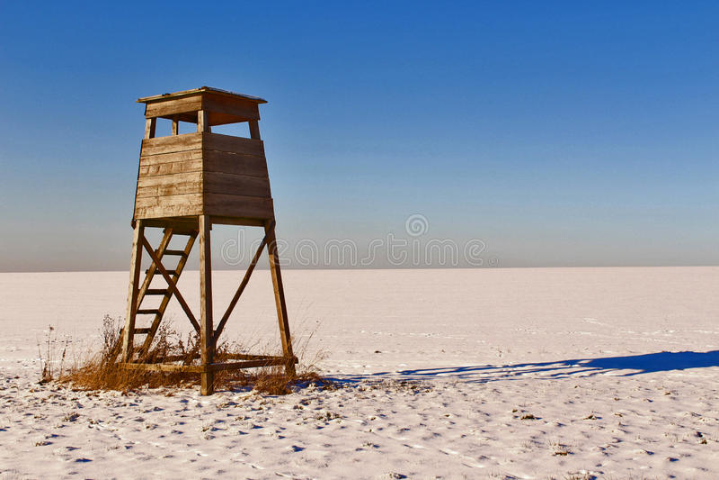Łowiecka kabina fotografia stock