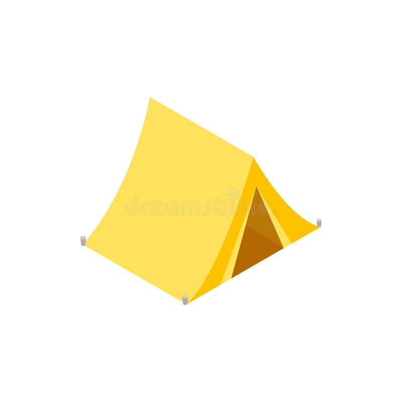 Łowiecka namiotowa isometric 3d ikona royalty ilustracja