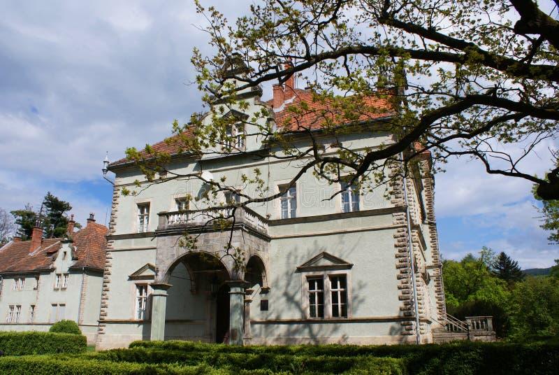 Łowiecki kasztel Hrabiowski Schonborn w Carpaty fotografia royalty free