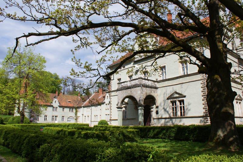 Łowiecki kasztel Hrabiowski Schonborn w Carpaty obraz royalty free