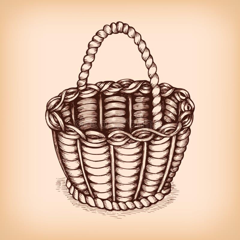 Łozinowego kosza emblemat royalty ilustracja
