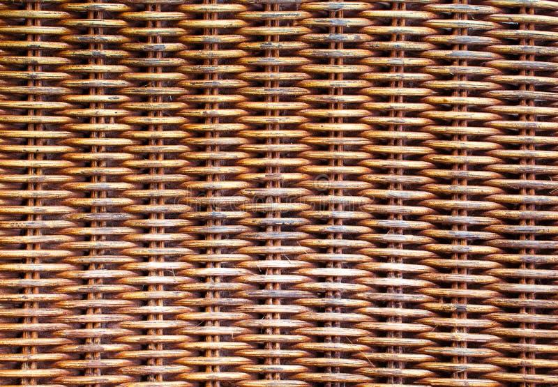 Łozinowy drewniany tło Rattan wyplatający odgórnego widoku zbliżenie obrazy royalty free
