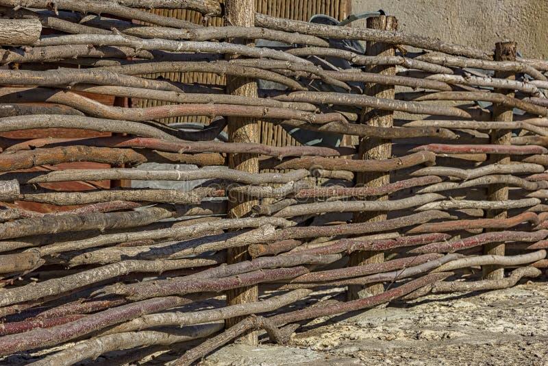 Łozinowy ogrodzenie zdjęcia stock