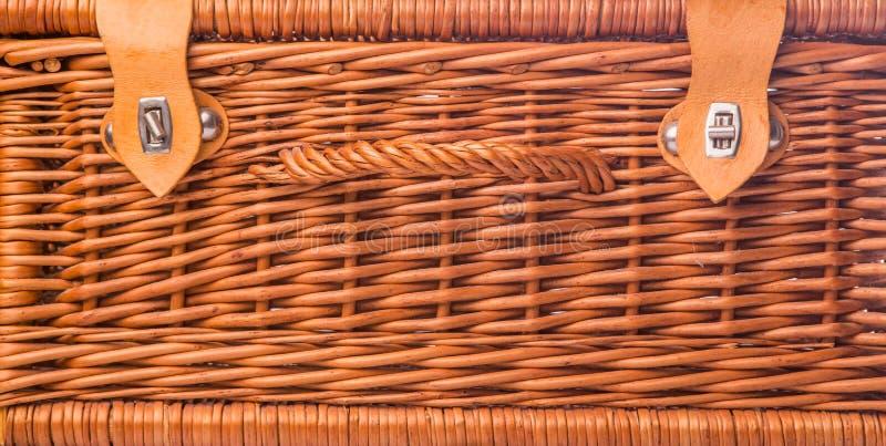 Łozinowy Pykniczny kosz III zdjęcia stock