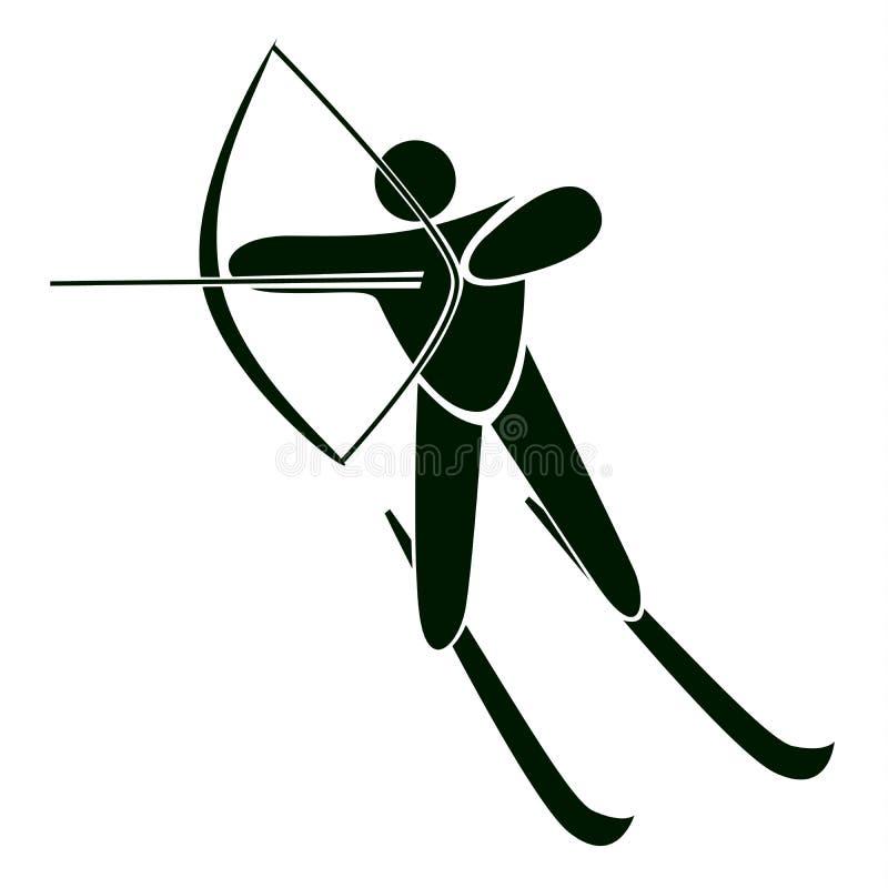 Łucznicza ikona ilustracji