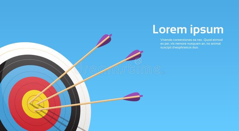 Łuczniczy cel Z strzała Archer sporta gry rywalizacją royalty ilustracja