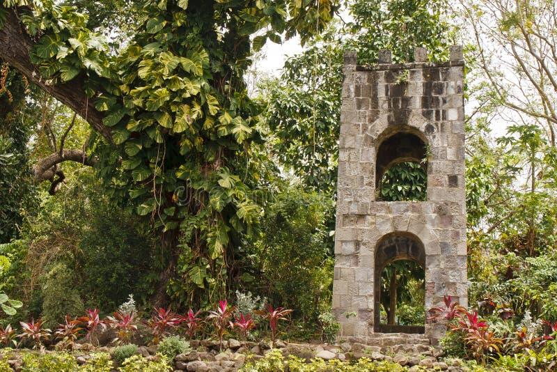 łuków dżungli kamienia wierza tropikalny fotografia royalty free