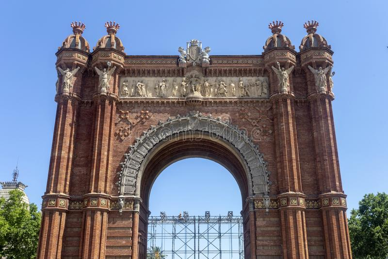 Łuk De Triomf Barcelona zdjęcie royalty free