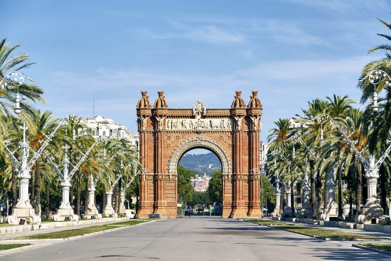 Łuk De Triomf w Barcelona obraz royalty free