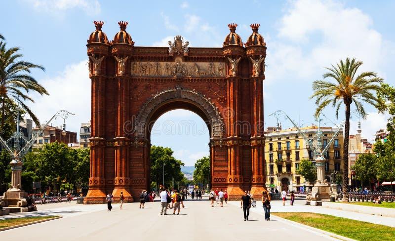 Łuk De Triomf   w Barcelona zdjęcia stock