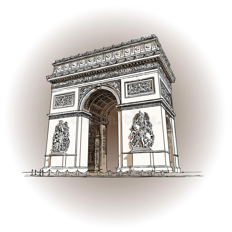 Łuk De Triomphe royalty ilustracja