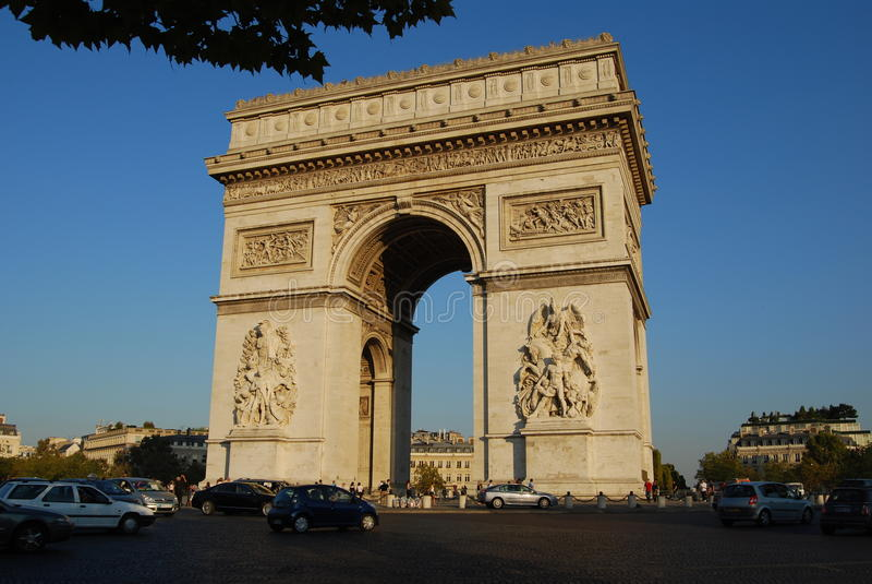Łuk De Triomphe Paryż fotografia stock