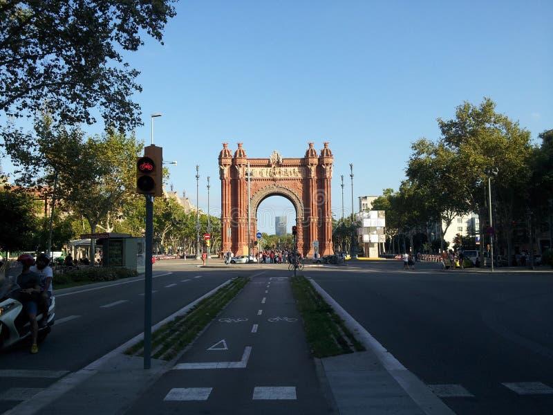 Łuk Del Triomf Barcelona obraz royalty free