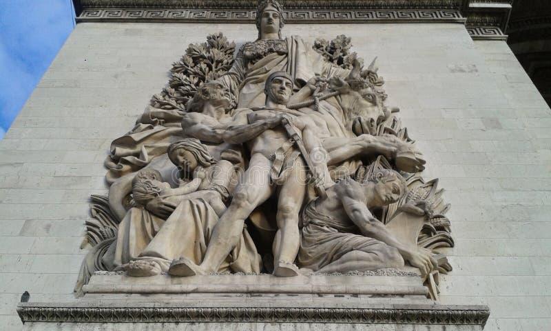 Łuk Du Triomphe, triumfu ` s łuk zdjęcie stock