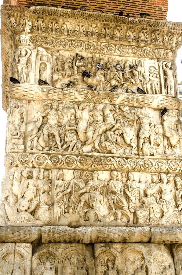 Łuk Galerius przy Saloniki, Grecja zdjęcie royalty free