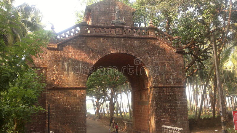 Łuk namiestnik, Stary Goa (India) obraz royalty free