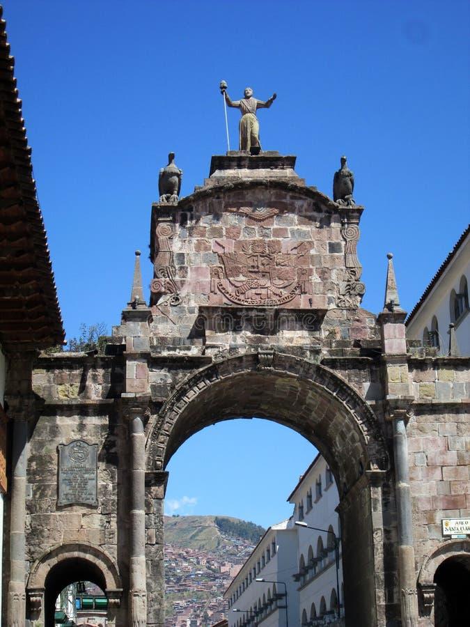 Łuk Santa Clara przy Cusco - obrazy royalty free