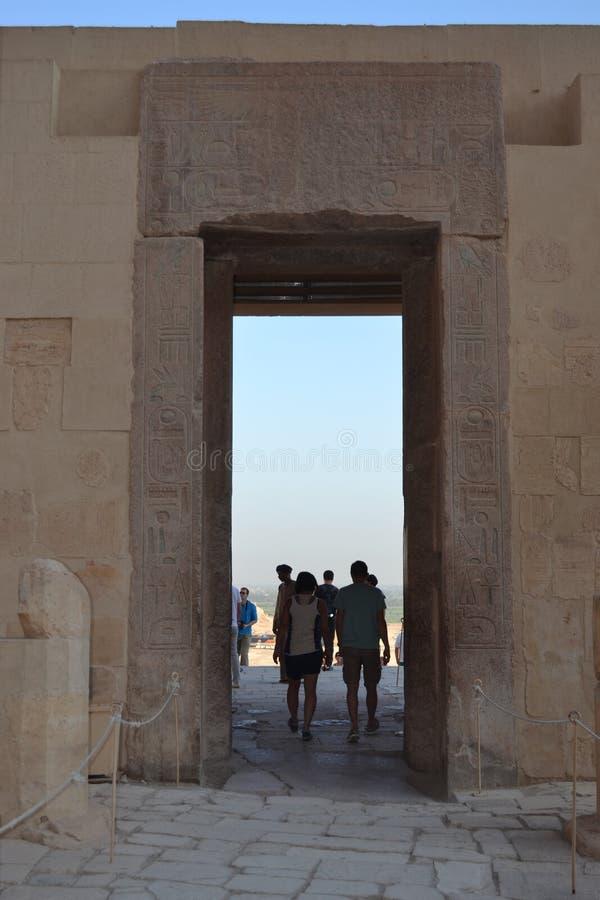 Łuk w świątyni Nefertari Egipt zdjęcia stock