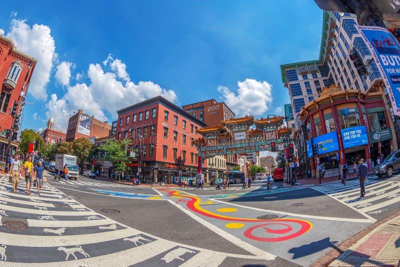 Łuk w Chinatown, Waszyngton, usa obrazy royalty free