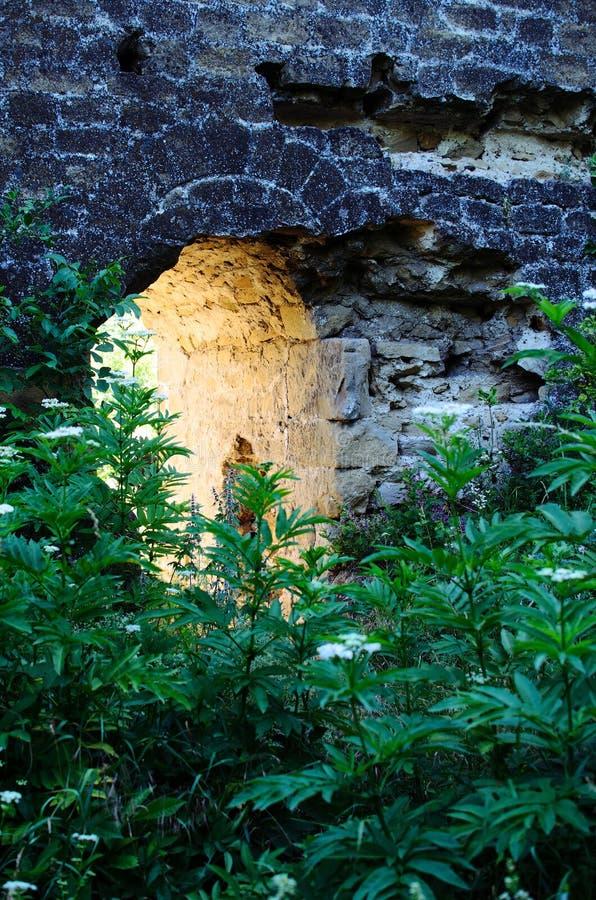 Łuk w starej ścianie zdjęcie royalty free