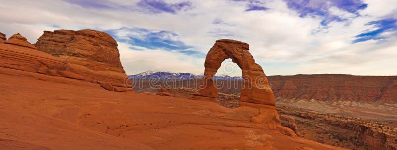 łuk wysklepia panorama delikatnego krajowego parka obrazy royalty free