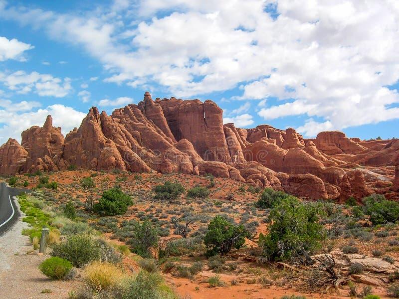 Łuki parki narodowi, Utah, U S A obrazy royalty free