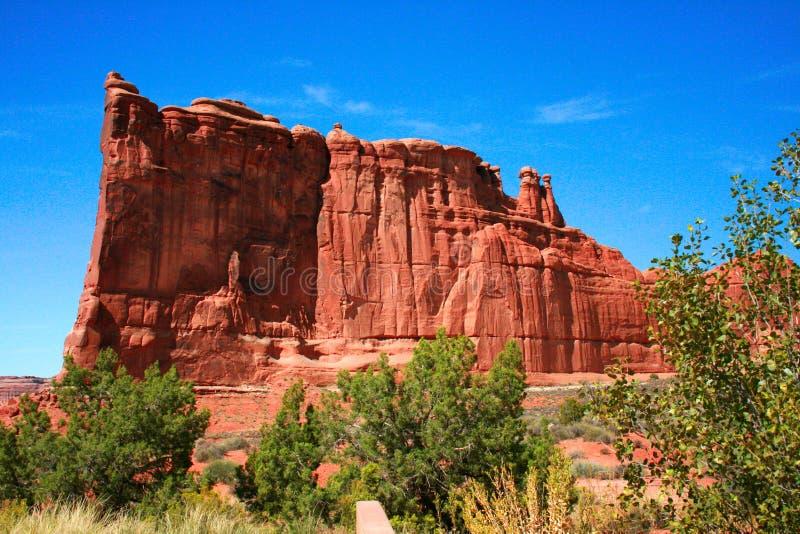 Łuki parki narodowi, Utah usa - wierza Babel, gmach sądu Towe fotografia stock