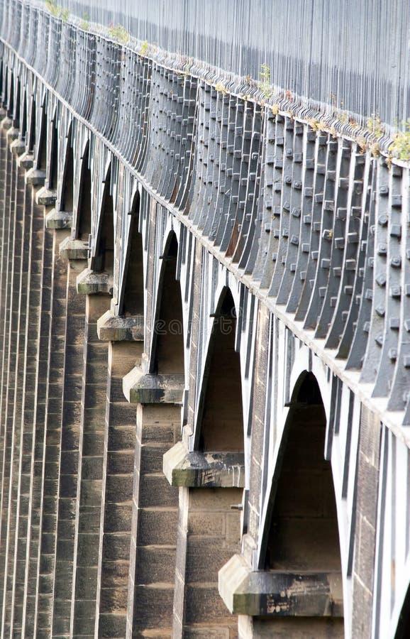 Łuki Pontcysyllte aquaduct w Walia fotografia royalty free