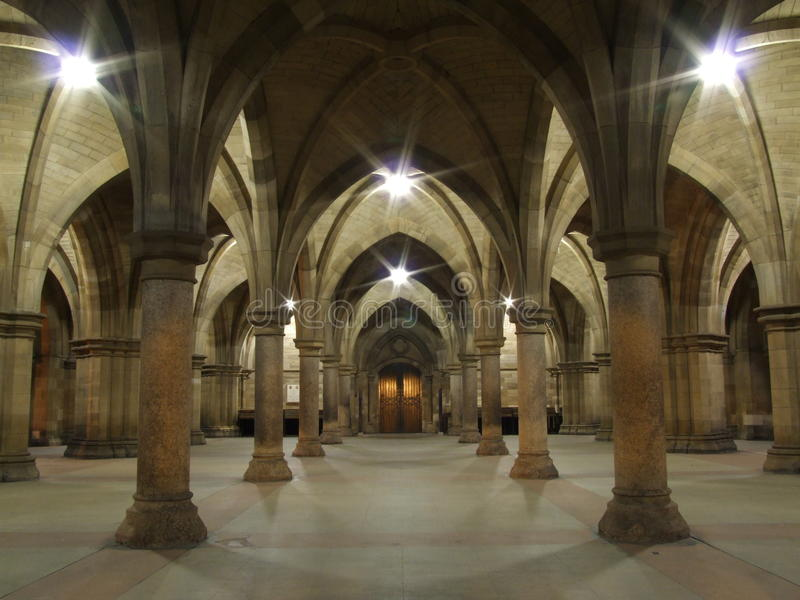 łuki target2652_1_ uniwersyteckich Glasgow filary zdjęcia stock
