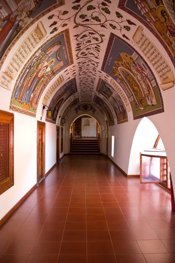 Łuki w Kykkos monasterze zdjęcie royalty free